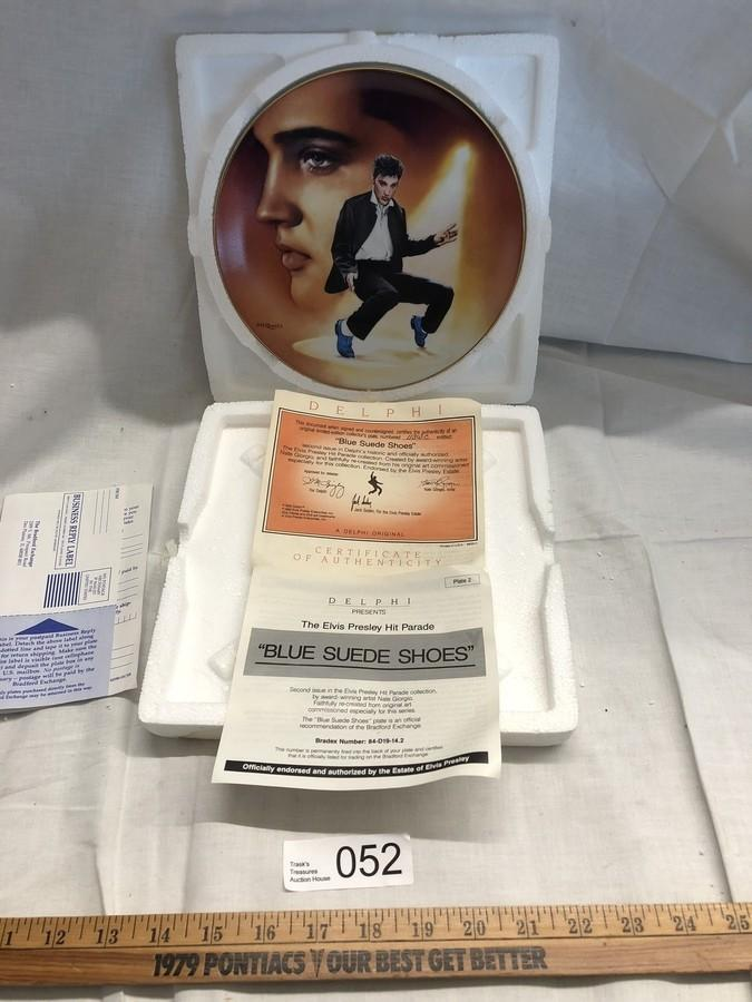 The Elvis Presley Hit Parade BLUE SUEDE SHOES Bradford Exchange Collector Plate