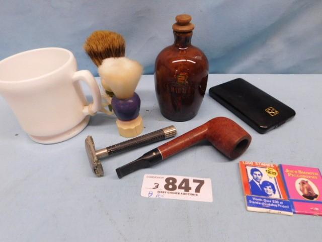 Mixed Lot: shaving mug &