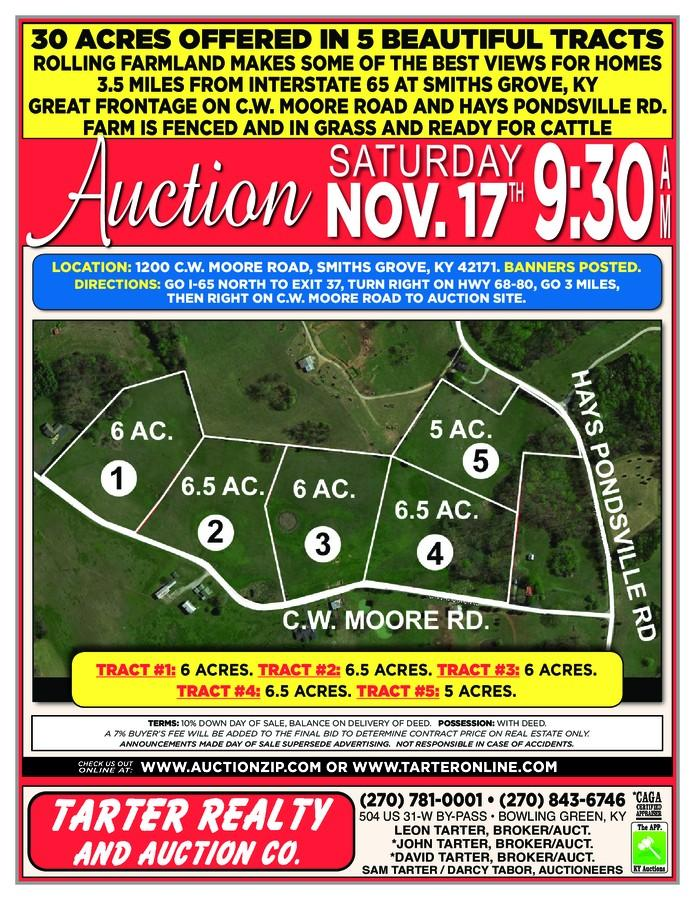 30 ACRES OFFERED IN 5 BEAUTIFUL TRACTS Auction | Auctioneer Pro